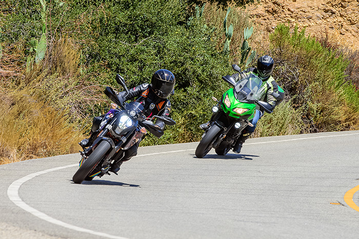 A SoCal Pro Rider training course in action